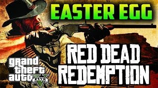 GTA 5 EASTER EGG, RED DEAD REDEMPTION, IMAGEN DE JHON MARSTON EN CAMISETA, GTA V
