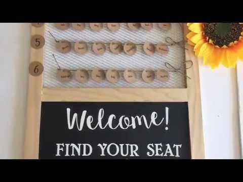 Wedding chicken wire seating chart tutorial by Hall Occasions