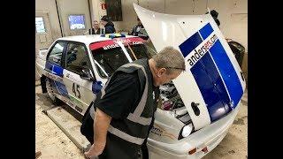 Besiktning inför Rally-SM1