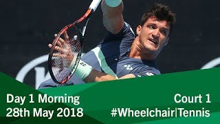 Round Robin Tournament Court 1 | Morning | Day 1 | 2018 BNP Paribas Wheelchair Tennis World Team Cup