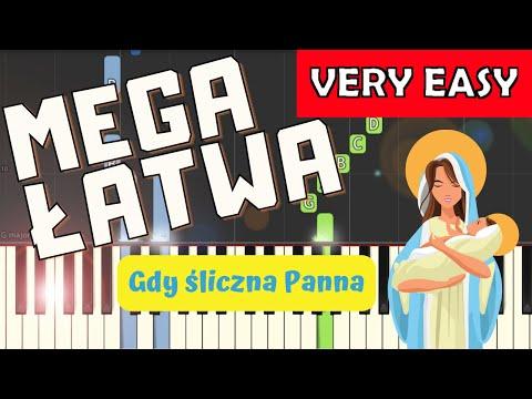 🎹 Gdy śliczna Panna - Piano Tutorial (MEGA ŁATWA wersja) 🎹