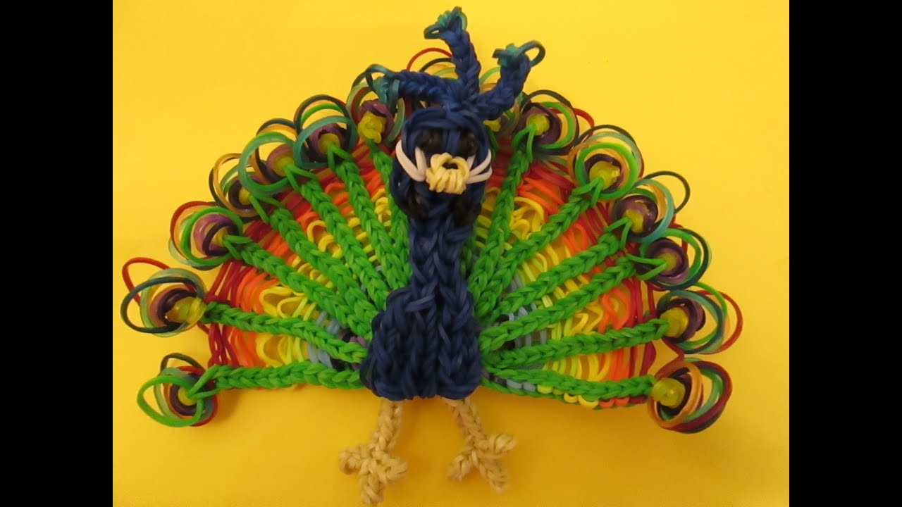 Rainbow Loom Peacock Charm Youtube