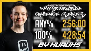 NFS Most Wanted Challenge Series World Record any% & 100% | Highlights