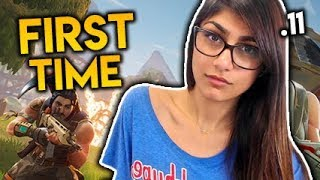 MIA KHALIFA plays Fortnite for the FIRST TIME Battle Royale Best Funny Moments Ep. 11