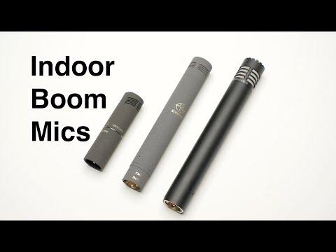 3 Professional Indoor Boom Microphones: Sennheiser, Schoeps, Audio Technica