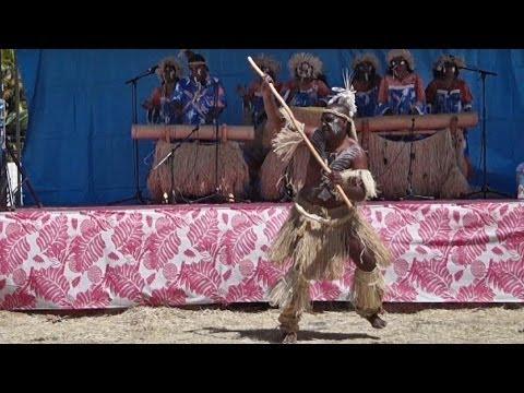 Kanak men's dance by We Ce Ca, New Caledonia