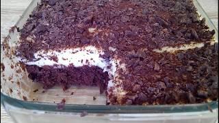 Легкий, нежный и очень вкусный! Шоколадный торт с заварным кремом и шоколадной крошкой.