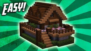 Minecraft: How To Build A Survival Starter House Tutorial (#8)