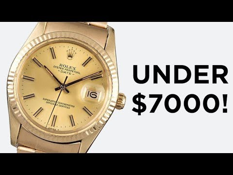 THE CHEAPEST SOLID GOLD ROLEX!: Rolex Oyster Perpetual Date 15037