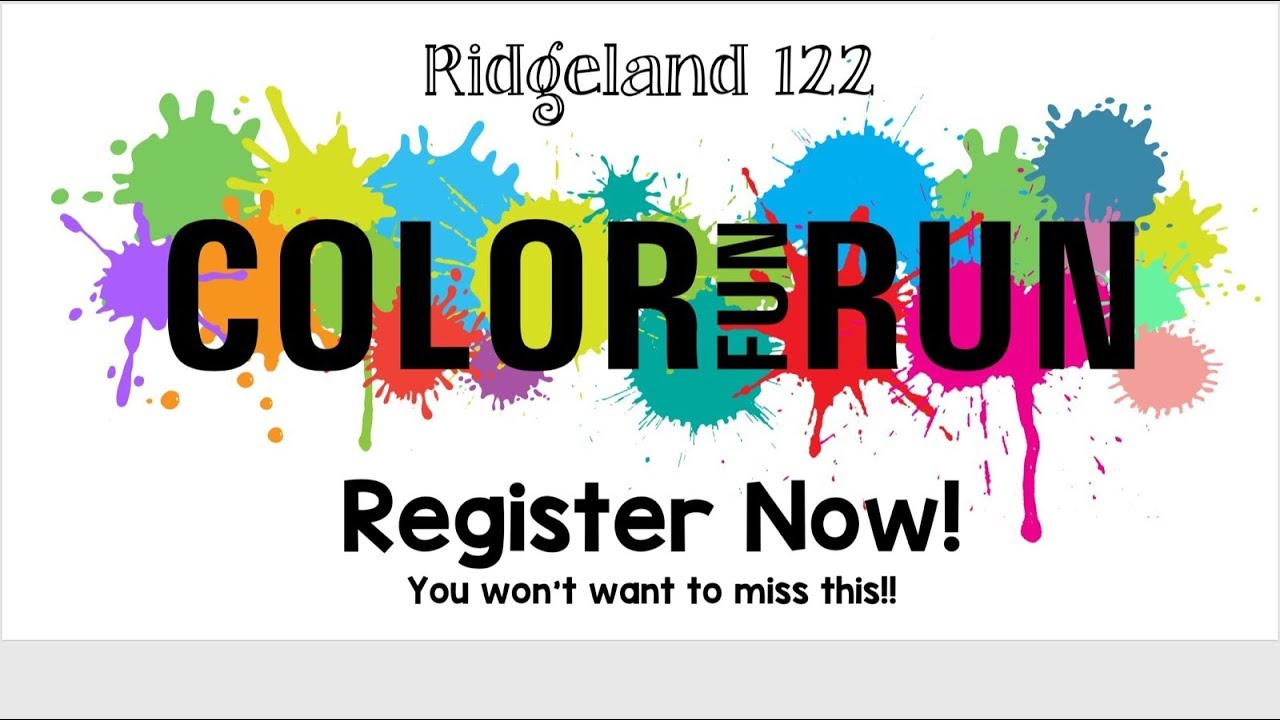 2018 Ridgeland Color Fun Run