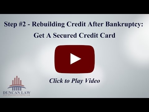 Step Of Rebuilding Credit After Bankruptcy