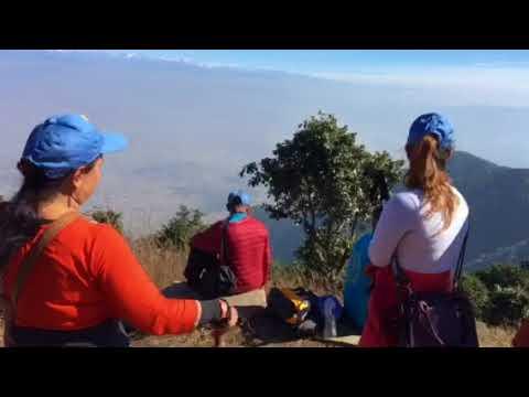 Hiking in hillside chhapdanda Kathmandu Nepal is a beautiful country