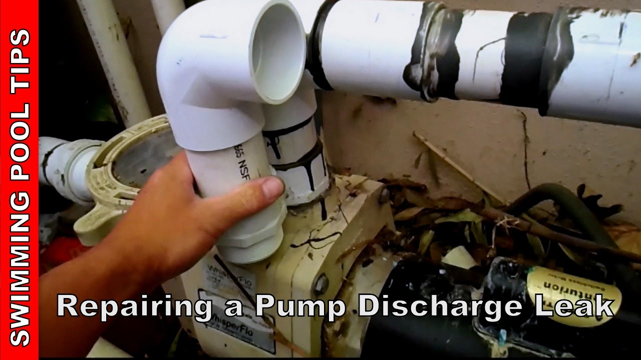 Repairing a pump discharge leak youtube How to fix a swimming pool leak