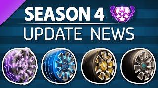 Rocket League SEASON 4 - Reward Wheels, New Ranked Tiers, Grand Champion Title