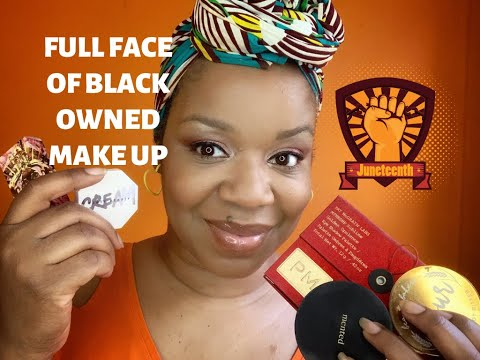 FULL FACE OF BLACK OWNED BEAUTY BRANDS! 💁🏽‍♀️