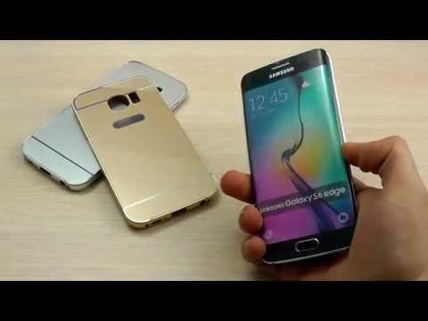 ОБЗОР:  Эксклюзивный Металлический Бампер с Защитной Вставкой для Samsung Galaxy S6 Edge SM-G925F