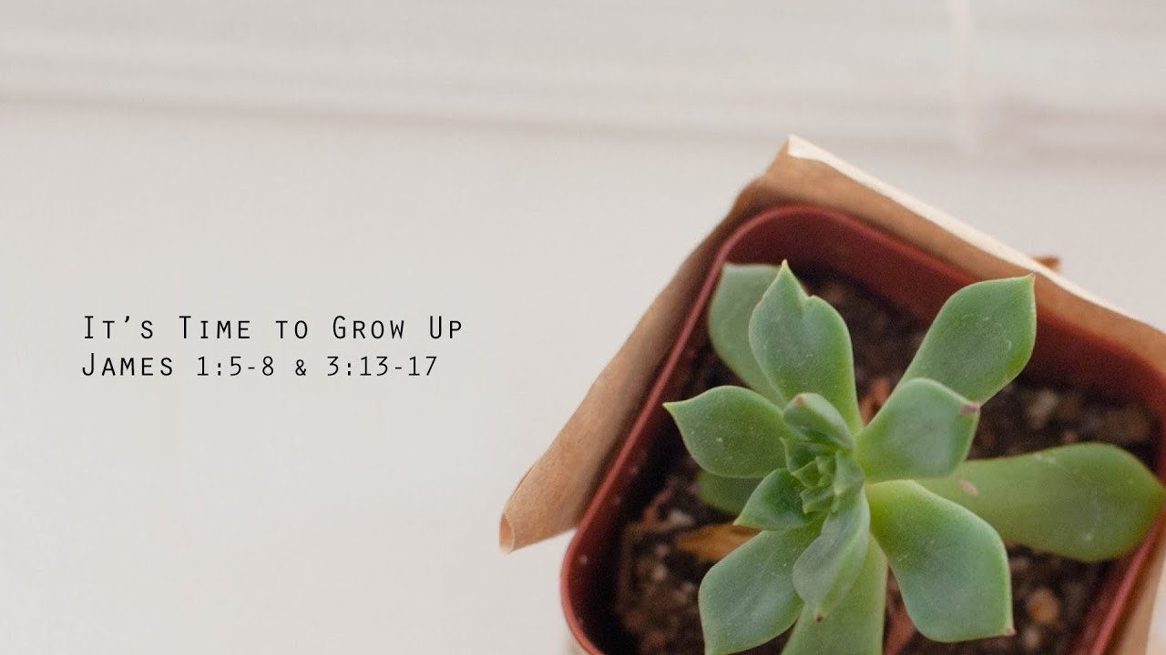 It's Time To Grow Up // James 1 & 3