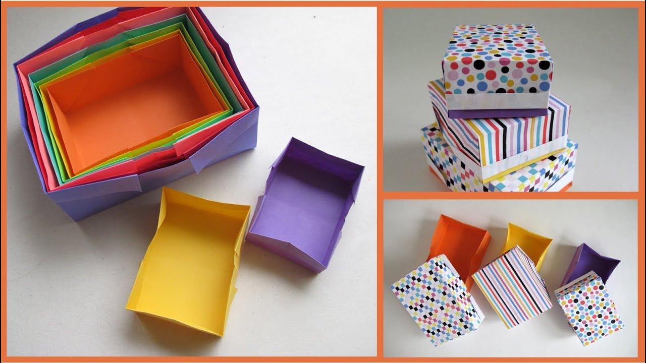 Easy Origami Box - Caja fácil de plegar - YouTube - photo#41