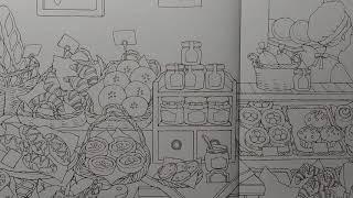 컬러링북 꿈꾸는 가게 ~ 두번째 가게 '빵집' 의 내부…