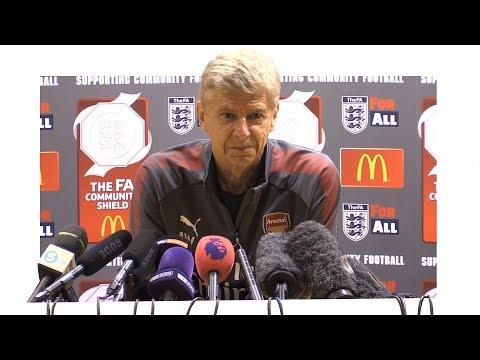 Arsene Wenger Pre-Match Press Conference - Arsenal v Chelsea - Community Shield