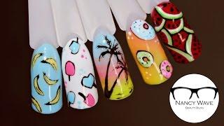 Летний маникюр | Фрукты на ногтях | Nancy Wave