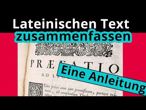 Wie fasse ich den Inhalt eines lateinischen Textes zusammen? - Latein   Duden Learnattack