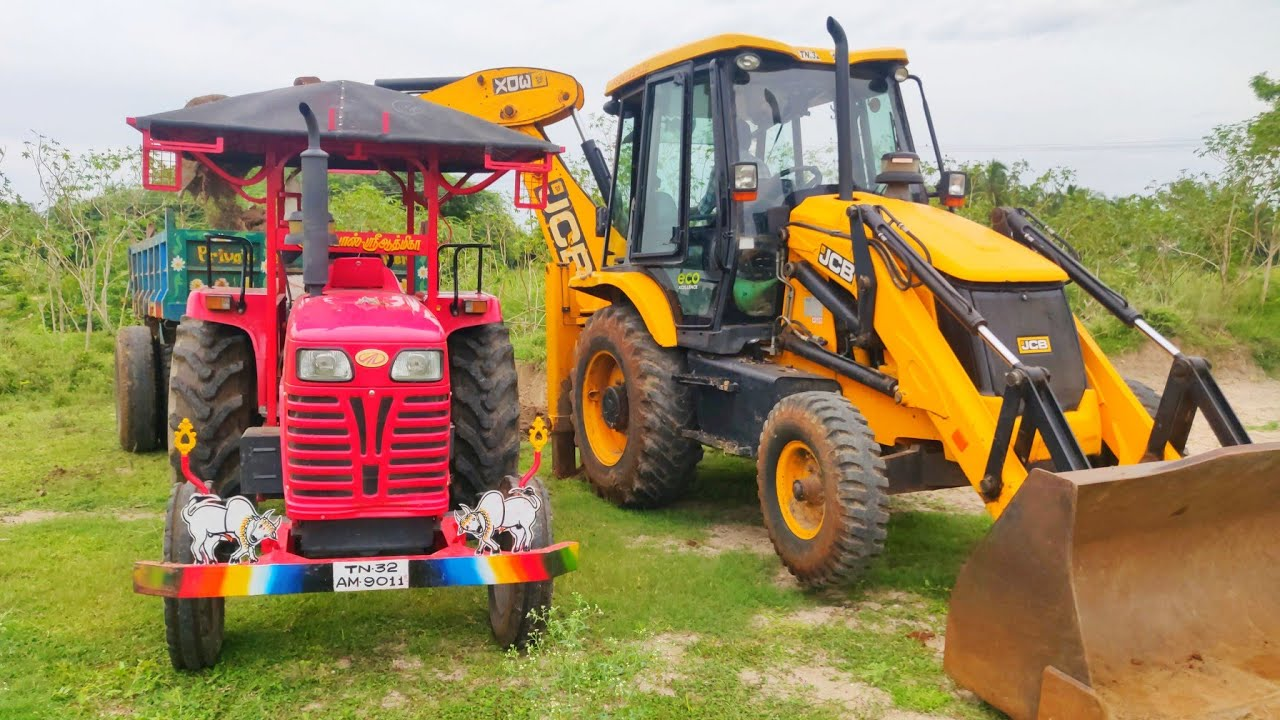Mahindra 585 Di power plus tractor with fully loaded trolley | John Deere tractor power | CFV