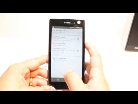 Backup Contacts, password to Google on Sony Xperia Z1