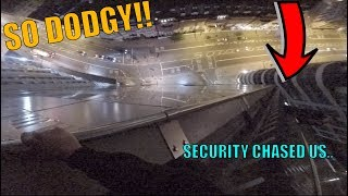 Video CLIMBING DOWN THE DEATH STAIRS!! Security chased us but we ESCAPED! download MP3, 3GP, MP4, WEBM, AVI, FLV Oktober 2018