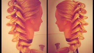 Коса Каллы. Вечерняя причёска. Очень просто. Видео-урок.
