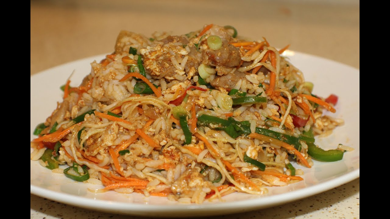 Mongolian Style Fried Rice (Quick & Easy Meals) - YouTube