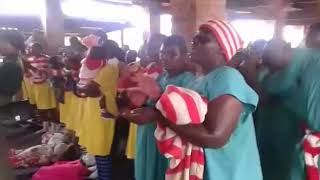 Female Prisoners Welcoming Auxillia Mnangagwa At Chikurubi Maximum Prison