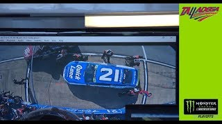 No. 21 crewmember OK after hit on pit road