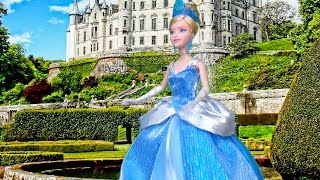 CINDERELLA ! Toys and Dolls Fun for Kids Playing with Barbie & Disney Princess