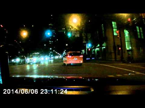 Orange Vancouver Taxi Cab # V33 Aggressive Driving