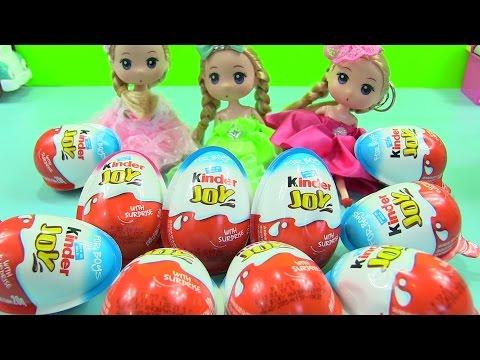 Chị Bí Đỏ Mở 10 Trứng Socola Kinder Joy Cùng Búp Bê Chibi Dễ Thương