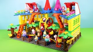 Peppa Pig Building Blocks Lego House Toys - Lego Duplo House Creations Toys For Kids #4