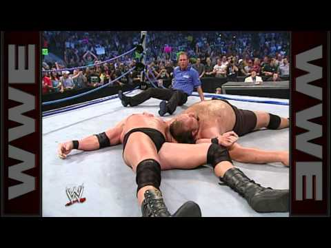 The SmackDown ring collapses after Big Show gets superplexed: SmackDown June 12, 2003
