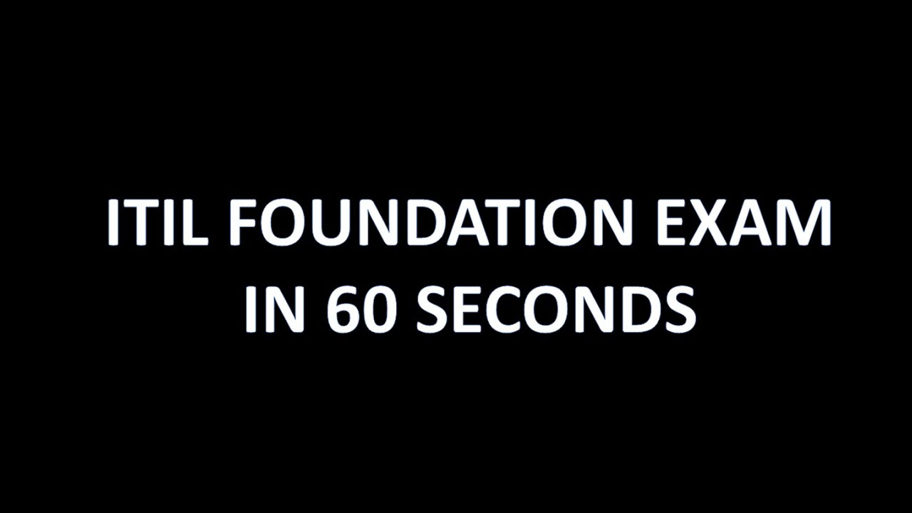 Itil foundation in 60 seconds exam cram hd youtube xflitez Images