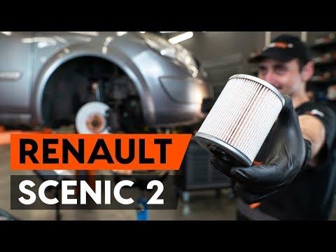 Как заменить топливный фильтр на RENAULT SCENIC 2 (JM) [ВИДЕОУРОК AUTODOC]
