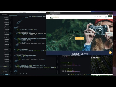 Top Nav And Parallax Hero Section - Live Coding