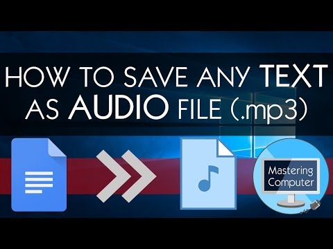 HOW TO SAVE ANY TEXT AS AUDIO FILE (.mp3) || GOOGLE TRANSLATE