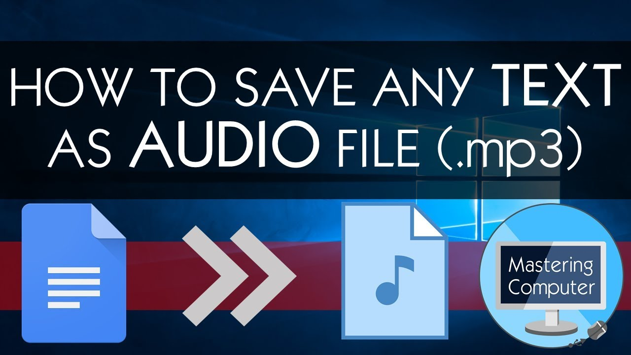HOW TO SAVE ANY TEXT AS AUDIO FILE ( mp3) || GOOGLE TRANSLATE