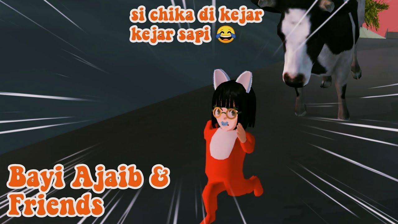 Si Chika Di Kejar-Kejar Sapi 😂   Bayi Ajaib & Friend spesial Idul adha   Sakura SCHOOL SIMULATOR