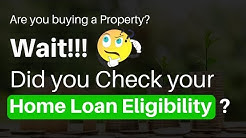 How to calculate Home Loan Eligibility  for  Salaried [2019]