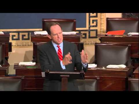 On the Senate floor, Sen. Toomey urges that funding bill abide by law, spending caps