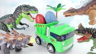 Dinosaurs & Tayo Adventure! Tayo Max Dump Truck Steal Eggs~ Learn Names of Dinosaurs. Fun Toys 공룡타요
