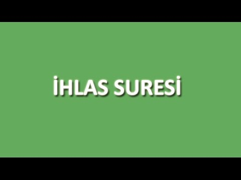 İhlas Suresi Arapça ve Türkçe Oku Dinle İzle - www.oku.gen.tr