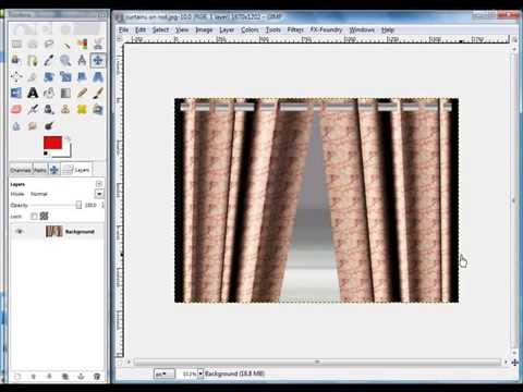 GIMP Tutorial - How to Make Window Drapes & Curtains by VscorpianC
