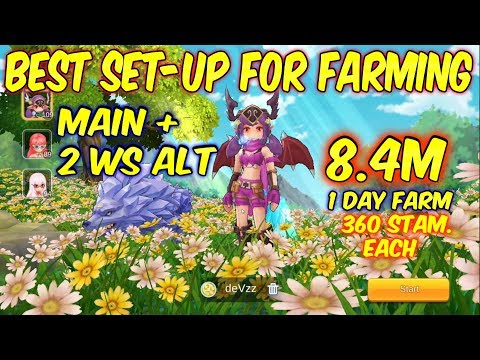 8.4million in just 1 day.Best Farming Set-up using 360 stam. each character | ROM SEA